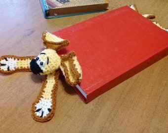 DOG KNITTED BOOKMARK