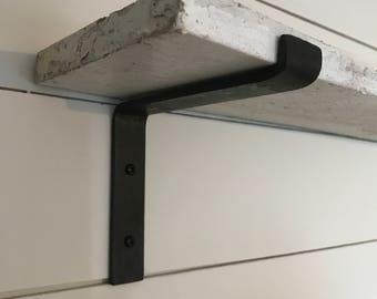 L Shelf bracket, home decor, Modern farm house, hand-forged, hand made