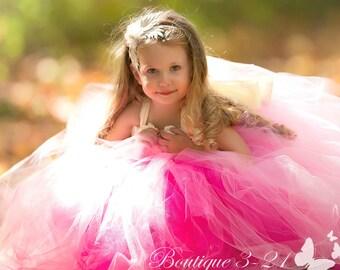 Pink Flower Girl Dress, Pink Tutu Dress, Pink Tulle Dress, Pink Dress, Pink Wedding, Pink, Fuchsia Flower Girl Dress, Fuchsia Tutu Dress