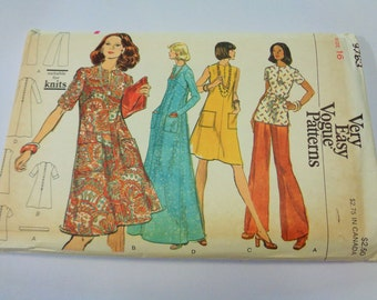 UNCUT #8763 Very Easy VOGUE Misses' Dress, Tunic and Pants Sewing PATTERN Size 16