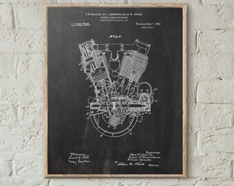Motorcycle Print,Internal Combustion Engine Print, Engine Patent, Garage Decor, Motorcycle Engine, Motorcycle Art, Patent Print #P15