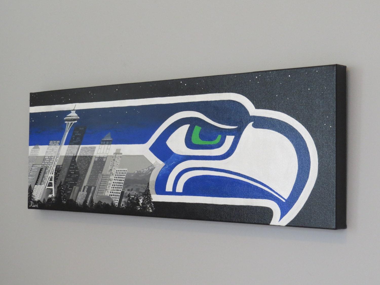 Seattle art seahawks painting super bowl xlviii seattle zoom jeuxipadfo Choice Image
