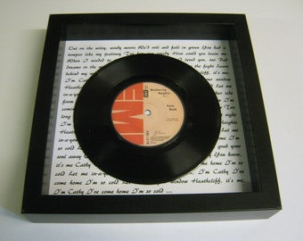Kate Bush - Wuthering Heights - Framed Vinyl Record Gift