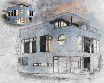 Architecture art etsy architectural art architecture print building reproduction interior exterior drawing landscape artwork malvernweather Gallery