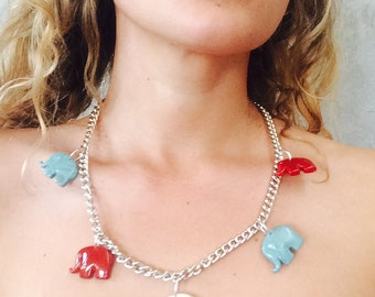 Colored Elephants necklace