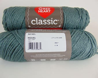 Nickel - Red Heart Classic yarn worsted weight 100% acrylic - 4584