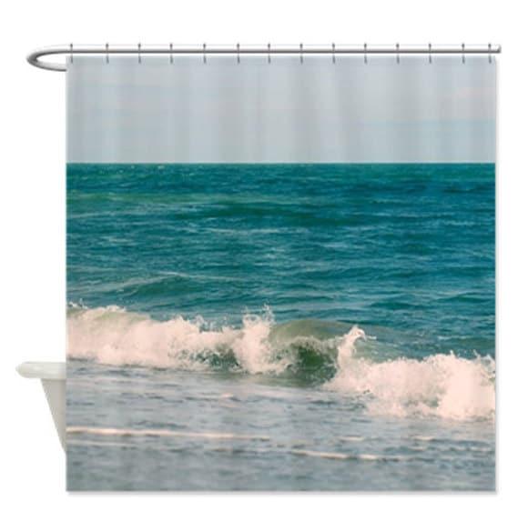 Beach Shower Curtain Turquoise Bathroom Nautical