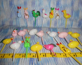 Easter Cup Cake Picks-20 Total-Vintage-Never Used