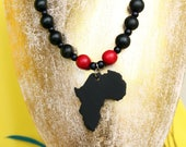 African pendant necklace ...