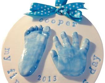 2 Handprint or Footprint Clay Keepsake