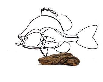 Sunfish Wire Sculpture, Fish Wire Art, Fish Art, 573494775