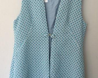 60's Baby Blue Sparkle Vest