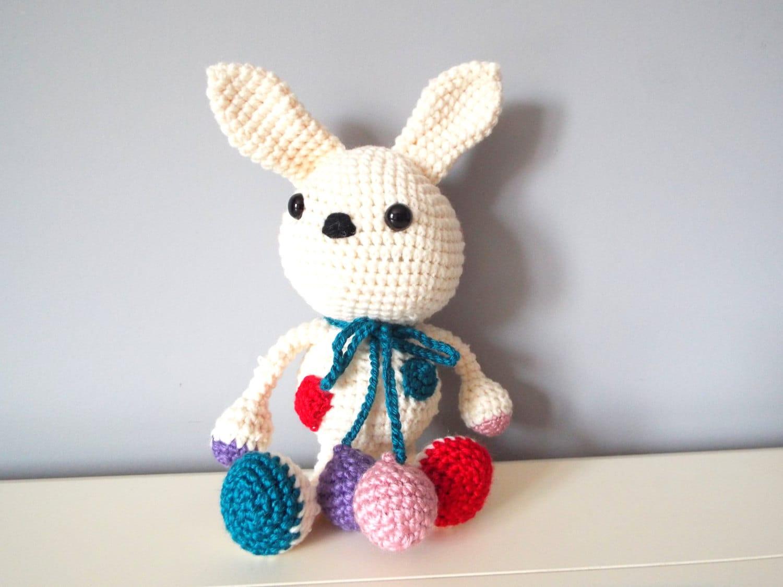 Crochet handmade white bunny rabbit Amigurumi Home decor Kids Baby ...