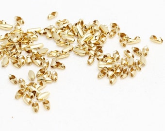 50 Pcs Gold Plated Ball Chain Clasp, 1mm and 1,2mm Ball Chain Clasp. Ball Chain Closures, BRT285
