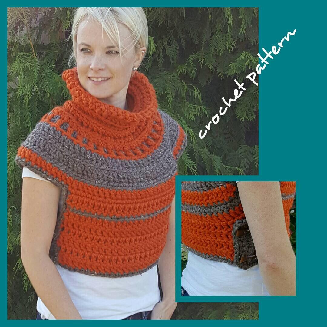 Crop top crochet pattern, cosplay cowl pattern, Sweater crochet ...