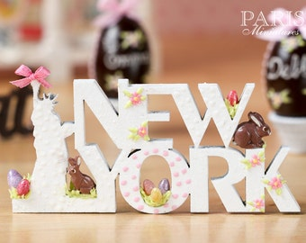"A ""NEW YORK"" Decoration/Sign for Easter - Miniature Decoration in 12th Scale (Made To Order)"
