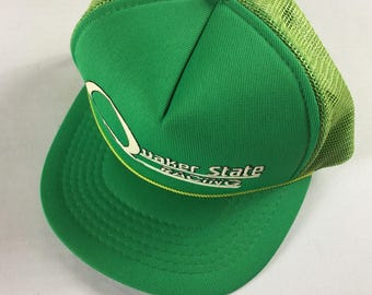 Quaker State Racing Snapback Hat Cap Foam Front Trucker Green Raised Letters
