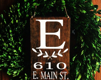 Address Sign   7x12   Personalized Address Sign   Wood Address Sign   Home Address Sign   New Home Gift   House Warming   Wedding Gifts Sign