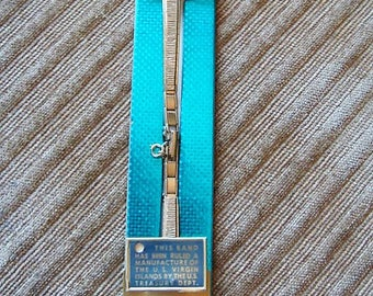 Bowles Women's Watch Band 10K Gold Filled Adjustable Length Goldtone Bowles Watch Band