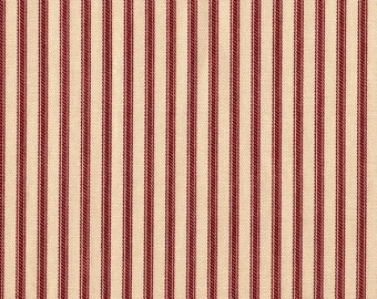 Decorative Pillow French Country Crimson Red Ticking Stripe