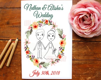 Coloring Book for Kids Wedding Favor for Kids Wedding coloring book Wedding coloring pages Wedding activity book Personalized coloring book
