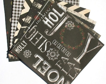 Black - 6x6 Recollections Sleigh Bells Ring Paper Pack