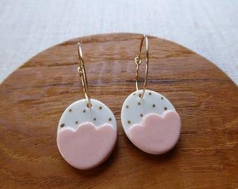 Small Gold Dot Egg Earrings