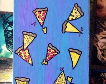 Pouring Pizza, acrylic painting