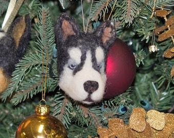 Christmas Gift Gift For Hin Gift For Her Birthday Gift Needle Felted Ornament Siberian Husky Dog