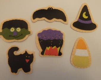 Felt Magnet Halloween Magnets set of 6