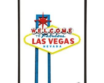 Welcome to Fabulous Las Vegas Sign Pop Art Print
