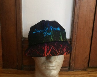 Vintage Chicago Lincoln Park Zoo Snapback Black and Different Colors Hat (90's)