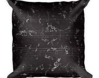 Music Pillow, music decor, Music Bedding, Music Room Decor, Musician Gift, Decorative Pillows, music decor, Music Gift, music teacher