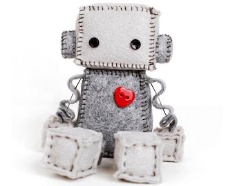 Felt Robot - Nerdy Baby Gift - Geekery Plushie - Rag Doll