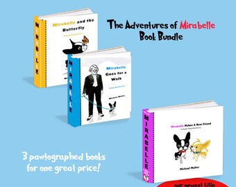 Happy Dog Adventure series of board books SET of  3  Mirabelle The boston terrier The Adventures of Mirabelle