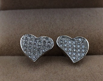 Silver Love Earrings,Pairs Stud Earrings,925 Silver Women Jewelry,Lovely Earrings,bride's Wedding Gifts