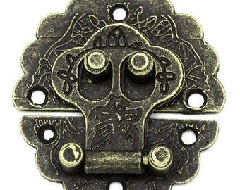 Round clasp style antique bronze 4 cm