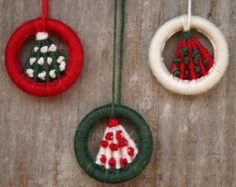 Dorset Button Kit - Christmas Tree Hanging Ornament