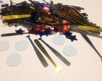 15 piece baseball and bat confetti / sequins  , 12 + 40 mm (3)