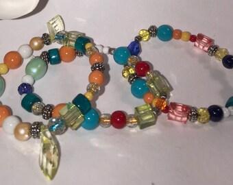 Tropical Teal Boho Bracelet Set