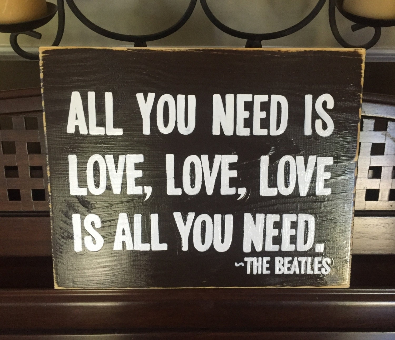 Beatles Quotes Love All You Need Is Love Sign Plaque The Beatles Song Quote Lyrics