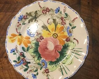 Beautiful, large, Italian  floral platter
