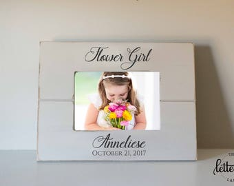 Flower Girl Gift Frame, Picture frame wedding gifts, Junior Bridesmaid, Thank you Picture Frame, photo frame present, custom, personalized
