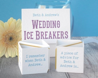 Wedding Game - Wedding Table Game - Wedding Ice Breaker - Table Activity for Wedding - Ice Breaker Game - Wedding Table Decoration