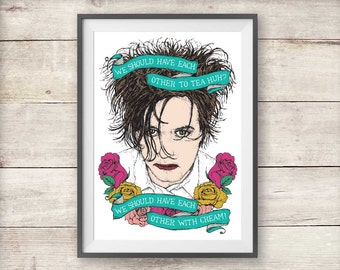 The Cure - Robert Smith - Lovecats - Print - Valentine's Day - Anniversary
