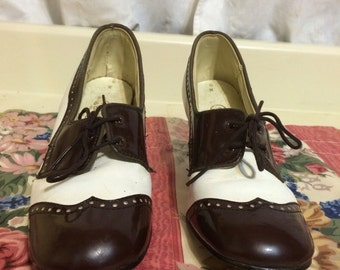 Lovely Hush Puppies Brown and White Oxfords