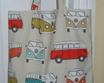 VW Campervan reusable tote, shopping bag,