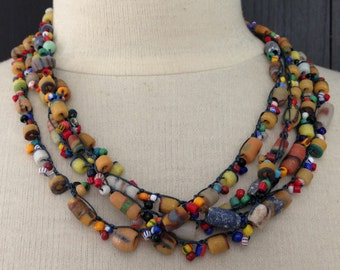 Chain Stitch Necklace Kit - Out of Africa
