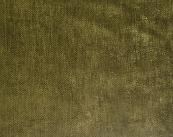 Dark Green - Chenille - Upholstery Fabric by the Yard