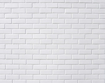 White Brick Wall Backdrop,Newborn Children Photography Backdrop,Portrait Backdrop XT476